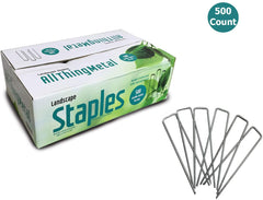 AllThingMetal Galvanized Sod Staples 6 Inch (500 count - Extra Heavy Duty)