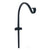 Ashman Curved Hook Plant Bracket, 18 Inches, Black, For Flower Baskets, Bird Feeders
