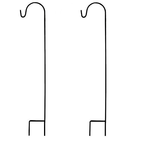 Ashman Black Shepherd Hook 48 Inch (2 pack), 10MM Thick, Super Strong, Rust Resistant