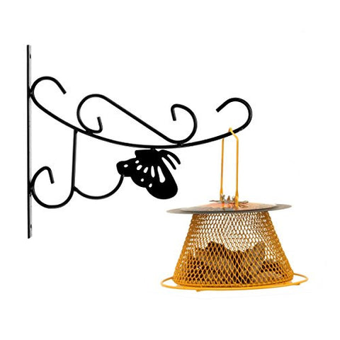 Ashman Butterfly Shaped Plant Hook or Plant Bracket 13.5 inches Long, Elegant and Sturdy Plant Hook to Hang Bird Feeders, Flower Basket, Lantern for use Indoors and Outdoors Patio Balcony Living Room