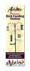 Ashman Premium Bird Feeding Station 92 Inches Tall, Hang Multiple Feeders – 4 hangers along with Bird Bath Tray, Mesh Tray – 5 Pronged Base Support – Rust Resistant Heavy Duty – 22 Inches Wide x 92 Inches Tall