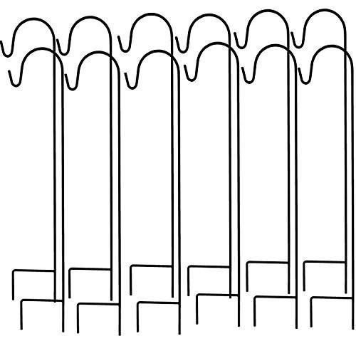 Ashman Shepherd's Hooks, Black, Set of 1000 made of Premium Metal for Hanging Bird Feeders
