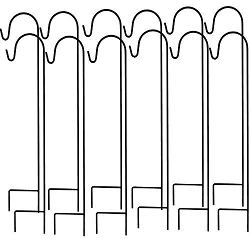 Ashman Shepherdu0027s Hooks, Black, Set Of 12 Made Of Premium Metal For Hanging  Solar ...