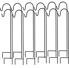 Ashman Shepherd's 35 Inches Hooks, Black, Set of 12 made of Premium Metal Metal for Hanging Bird Feeders.