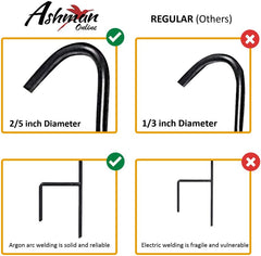 Ashman 37 Inch 10 MM Shepherd's Hooks, Black, Set of 6 Made of Premium Metal for Bird Feeders, Mason Jars, Flower Basket, Christmas Lights, Lanterns, Garden Stakes and Wedding Decor…