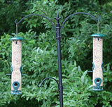 Ashman Bird Feeder to Attract Wild Birds, Fill it with Sunflower Black Oil Seeds, Peanuts and Suet Pellets Easy to Install, Clean & Fill, Great Gift for Friends and Family! (Green)