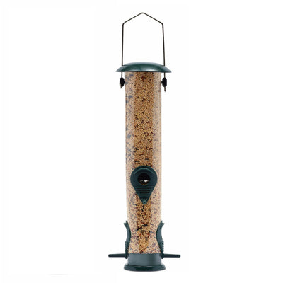 Ashman Bird Feeder, Metal Top and Bottom, Spacious Design, Attractive & Long Lasting, Fill it with Sunflower Black Oil Seeds, Clean and Fill, Great Gift for Friends and Family