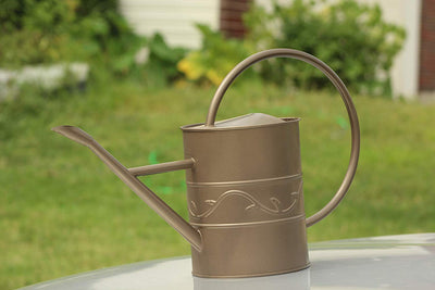 AshmanOnline Bronze Watering Can for Outdoor and Indoor Plant Watering Use with 3.75 Litre Capacity.
