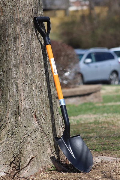 Ashman Round Shovel - The Round Shovel has a D Handle Grip with 41 Inches Long shaft – Heavy duty Blade with a shaft made of Fiber Glass.