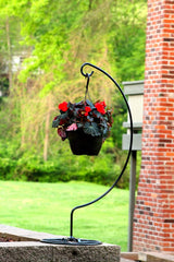 Ashman Shepherd Hook Stand, Bird Cage Stand, Outdoor and Indoor Flower Basket, Patio Plant and Bird Feed Station Stand
