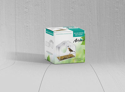 Ashman Deluxe Window Bird Feeder, Spacious Design, Easy to Install, Clean and Fill, Great Gift for Friends and Family