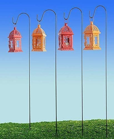 Ashman Shepherds Hook 10 Pack Black, 35 Inches Tall, Made of Premium Metal for Hanging Solar Light, Bird Feeders, Garden Stake and Wedding Décor
