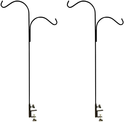 Ashman Double Span Black Deck Hook (2 pack), 46-Inch Length, Super Strong and ideal for Bird Feeders, Hanging Baskets, Lanterns, Wind Chimes.