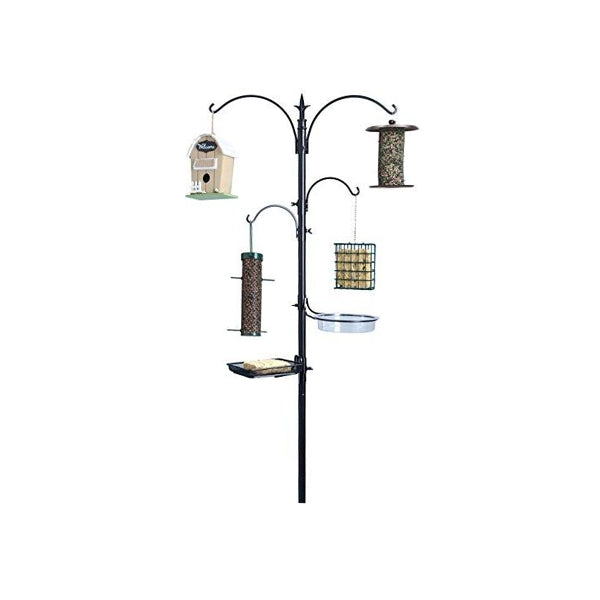 "Ashman Premium Bird Feeding Station Kit, 22"" Wide x 92"" Tall (82"" above ground height)"