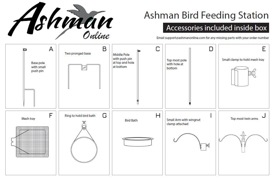 Deluxe Bird feeding station instructions