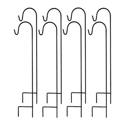 Ashman Shepherd's Hooks Set of 8. 35 Inches long made of Premium Metal for Hanging  Plant Hangers