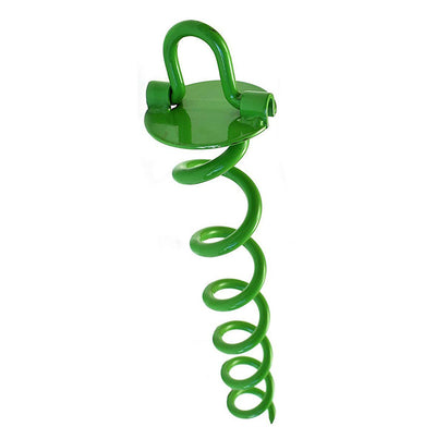 Ashman 16 Inch Spiral Ground Anchor Green Color - Ideal for Securing Animals, Tents, Canopies, Sheds, Car Ports, Swing Sets, 44 Count