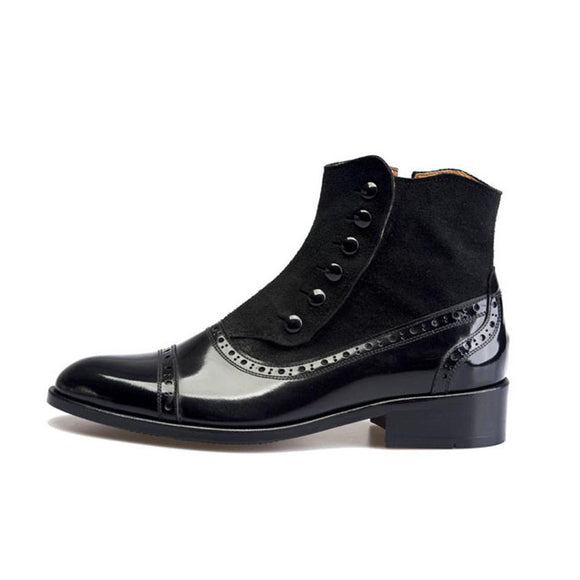 81304a381f5 Premium Handmade Leather Shoes Riding Ankle Boots for Men Korea Craft