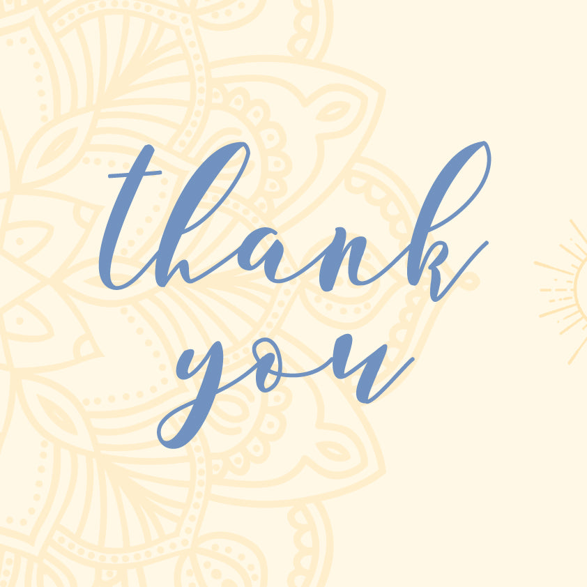 FREEBIE: Printable Thank You Card set 1