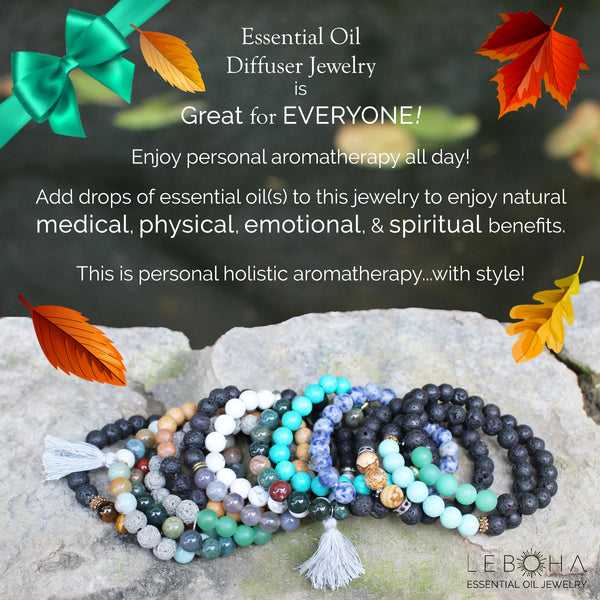 Multi Wood and Lava Rock Essential Oil [Diffuser] Bracelet