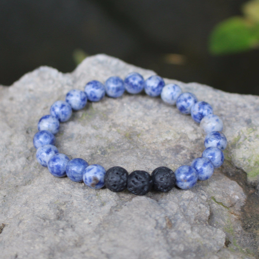 Lava Rock and Blue Sodalite