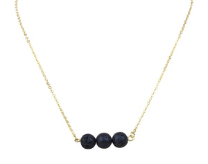 Floating Black Lava Rock Essential Oil [Diffuser] Necklace