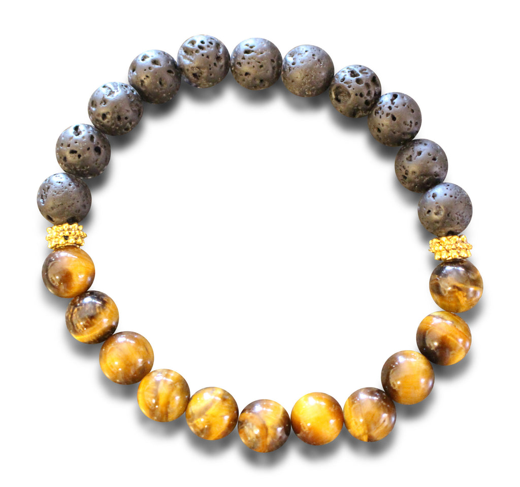 Lava Rock and Fashion Tiger Eye
