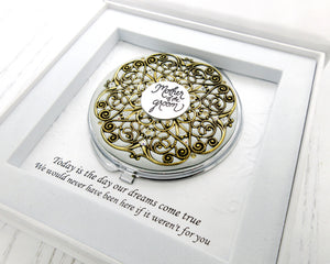 Mother of the Groom Vintage Compact Mirror