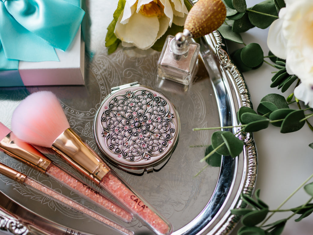 Extra Large Classic Silver Compact Mirror