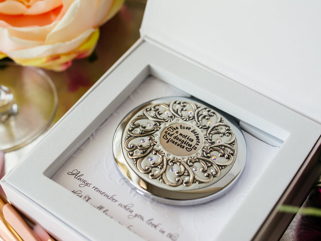 Mother and Daughter Compact Mirror
