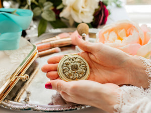 Personalized Gold Compact Mirror