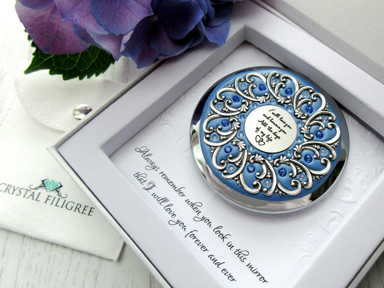 Love and Honour Handmade Compact Mirror