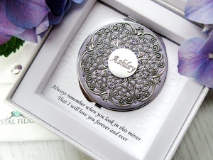 Personalized Name Compact Mirror