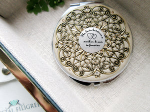 Mother and Son Vintage Compact Mirror