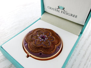 Royal Crown Rose Gold Pill Box