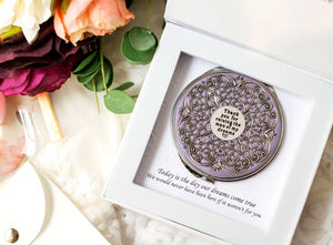 """Thank you for raising the man of my dreams"" Extra Large Compact Mirror"