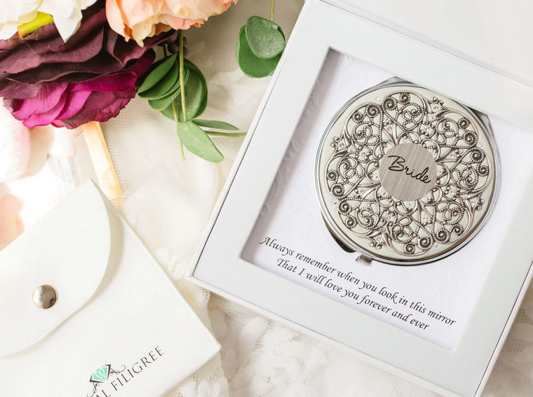 Extra Large Bridal Compact Mirror