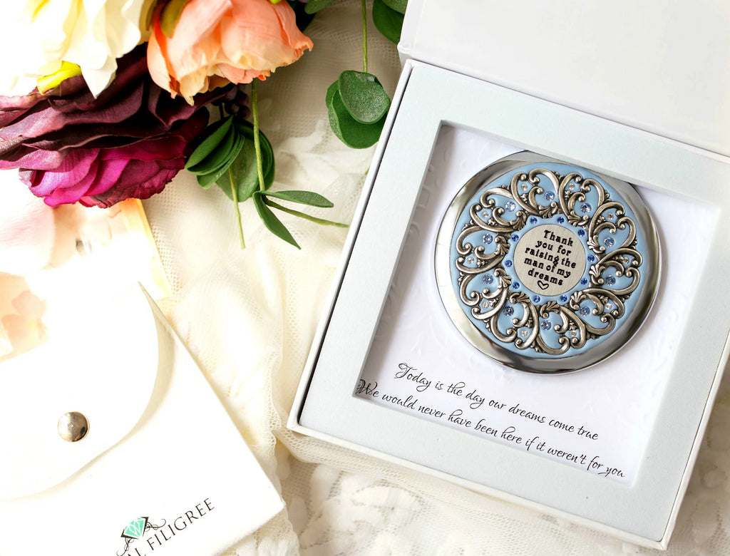 """Thank you for raising the man of my dreams"" Compact Mirror"