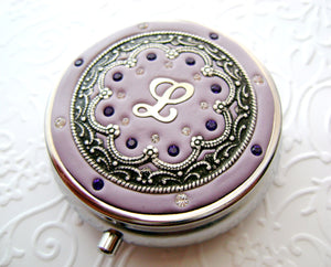 Personalized Ornate Pill Box