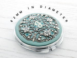 Personalized Compact Mirror with Gift Box and Card