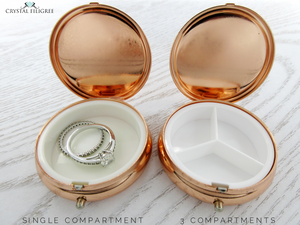 Rose Gold Centerstone Pill Box