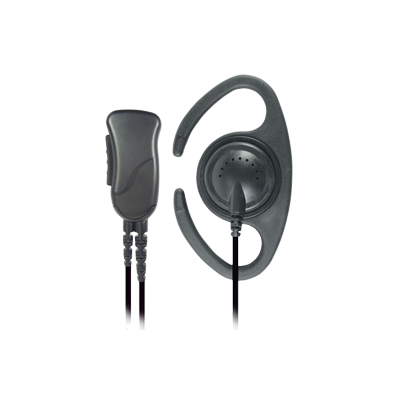 Pryme SPM1210C - Lapel Microphone with C-ring Style Earphone and PPT Switch