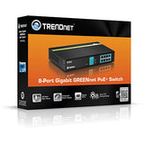 TrendNet TPE-TG81G 8-Port PoE+ Gigabit Switch