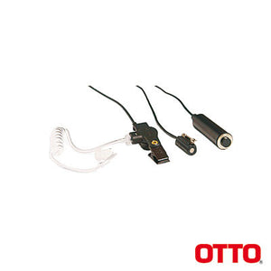Otto V1-10757 - Kit Microphone-Earphone Professional Three Wire Mini-Lapel for ICOM