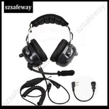 Aviation Walkie talkie headset noise cancelling heaphone for kenwood baofeng UV-5R 2 pins two way radio