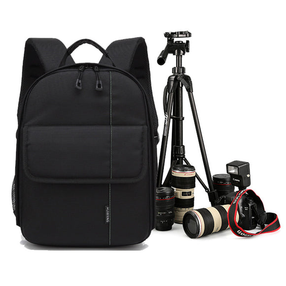 Camera Shoulders Backpack Pad Bags Shockproof Case Waterproof with Rain Cover Video Tripod Bag for Canon Nikon SLR