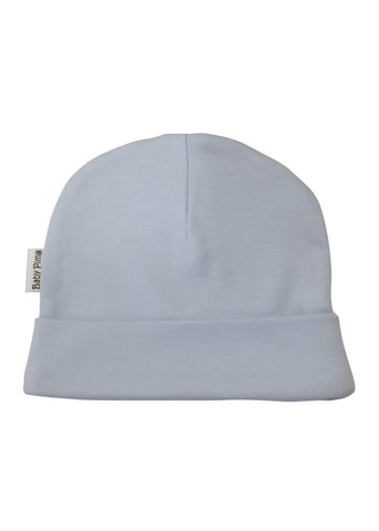 Super soft baby basic hat in light blue made of 100% peruvian pima cotton