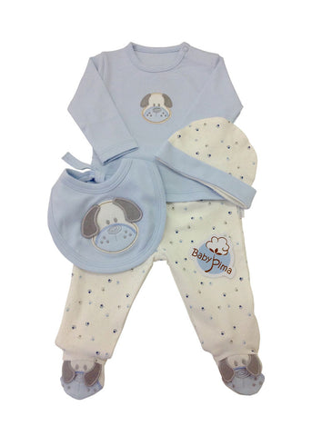 super cute take me home set blue dog for baby boy
