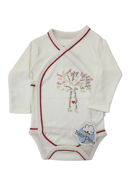 Organic long sleeve bodysuit - Life tree