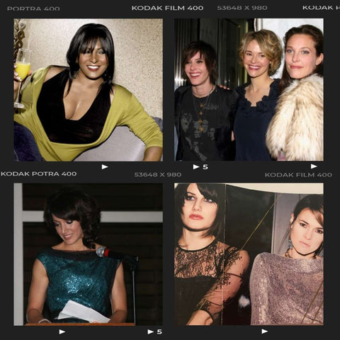 Photo collage of memorable times with The L Word actors Pam Grier, Kate Moennig, Leisha Hailey, Rachel Shelley, Jennifer Beals and the Uh Huh Her Band